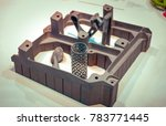 object printed on metal 3d... | Shutterstock . vector #783771445