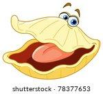 oyster cartoon   Shutterstock .eps vector #78377653