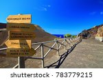 view of capelinhos volcano with ... | Shutterstock . vector #783779215