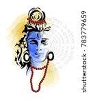 maha shivratri. hand drawn...   Shutterstock .eps vector #783779659
