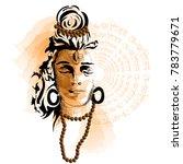 maha shivratri. hand drawn... | Shutterstock .eps vector #783779671