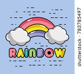 nice rainbow with cloud in the...   Shutterstock .eps vector #783785497