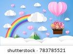 valentine    beautiful flower   ... | Shutterstock .eps vector #783785521