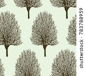 pattern of the trees in... | Shutterstock .eps vector #783788959