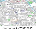 vector map of berlin city... | Shutterstock .eps vector #783795235