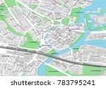 vector map of berlin city... | Shutterstock .eps vector #783795241