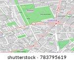 vector map of berlin city... | Shutterstock .eps vector #783795619