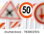 speed limit sign   transport... | Shutterstock . vector #783802501