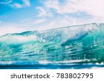 blue wave in ocean. clear water ... | Shutterstock . vector #783802795