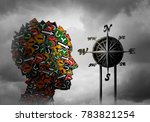 life compass and psychology... | Shutterstock . vector #783821254