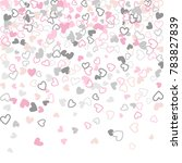 flying hearts vector pattern.... | Shutterstock .eps vector #783827839