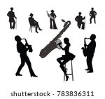 silhouettes of musicians ... | Shutterstock .eps vector #783836311