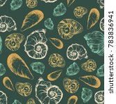 seamless pattern with various... | Shutterstock .eps vector #783836941