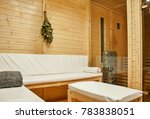 interior of wooden finnish...   Shutterstock . vector #783838051