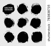 black round abstract smears set ... | Shutterstock .eps vector #783838735