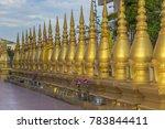 ornate golden receptacles  for... | Shutterstock . vector #783844411