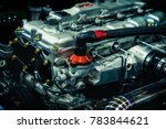decorate car the engine with a...   Shutterstock . vector #783844621