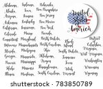 list of states of united states ... | Shutterstock .eps vector #783850789