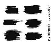 set of black ink strokes  brush ... | Shutterstock .eps vector #783853699