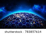 global network security and... | Shutterstock . vector #783857614