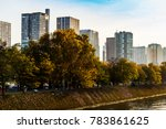 paris  france  on october 30 ... | Shutterstock . vector #783861625