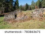 Small photo of old farm houses and ruins at the santanoni great camp