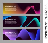 set of vector abstract banners  | Shutterstock .eps vector #783864811