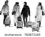 city dwellers go to trip | Shutterstock .eps vector #783872185