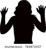 a woman body  silhouette vector | Shutterstock .eps vector #783872437