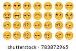 cartoon expression emoticons set | Shutterstock .eps vector #783872965
