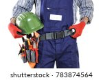 young electrician technician... | Shutterstock . vector #783874564