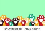 simple banner with colorful... | Shutterstock .eps vector #783875044