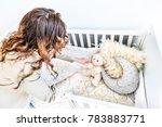 closeup of bright yellow baby... | Shutterstock . vector #783883771