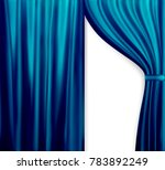 naturalistic image of curtain ... | Shutterstock .eps vector #783892249