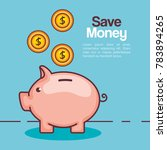 piggy savings money icon | Shutterstock .eps vector #783894265