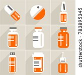 set of vector medicament icon... | Shutterstock .eps vector #783895345