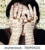 personality disorder. digital... | Shutterstock . vector #783904231