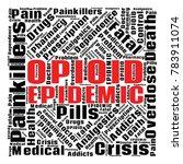 opioid crisis word cloud... | Shutterstock .eps vector #783911074