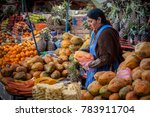 sucre  bolivia   august 07 ... | Shutterstock . vector #783911704