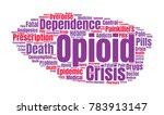 opioid crisis word cloud... | Shutterstock .eps vector #783913147