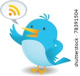 announce,banner,bird,blue,cartoon,chat,customize,cute,illustration,kit,note,rss,shout,sing,symbol