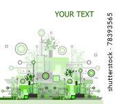 grunge   hi tech vector... | Shutterstock . vector #78393565