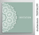 invitation or card template... | Shutterstock .eps vector #783936199