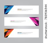 vector web banner design... | Shutterstock .eps vector #783936544
