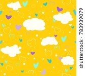 seamless pattern with clouds... | Shutterstock .eps vector #783939079