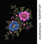 flower embroidery graphic for t ... | Shutterstock .eps vector #783939769