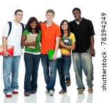 multicultural college students... | Shutterstock . vector #78394249