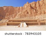 entrance of the mortuary temple ...   Shutterstock . vector #783943105