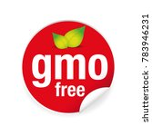 gmo free label tag red vector | Shutterstock .eps vector #783946231