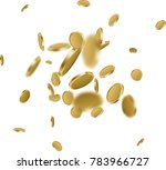 white background with falling... | Shutterstock .eps vector #783966727